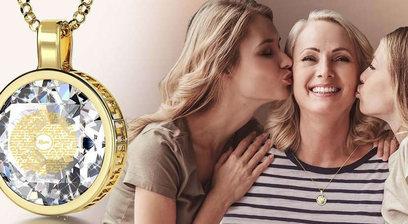 Gold Love Necklaces Is Cool Gifts For Mom To Make Her Feel Special