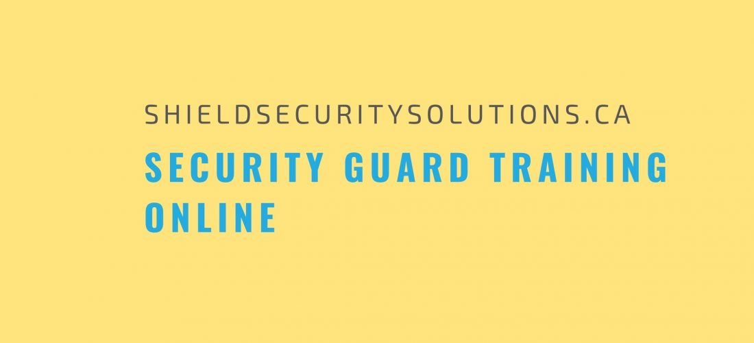 Security Guard Training Online – Is it For You?